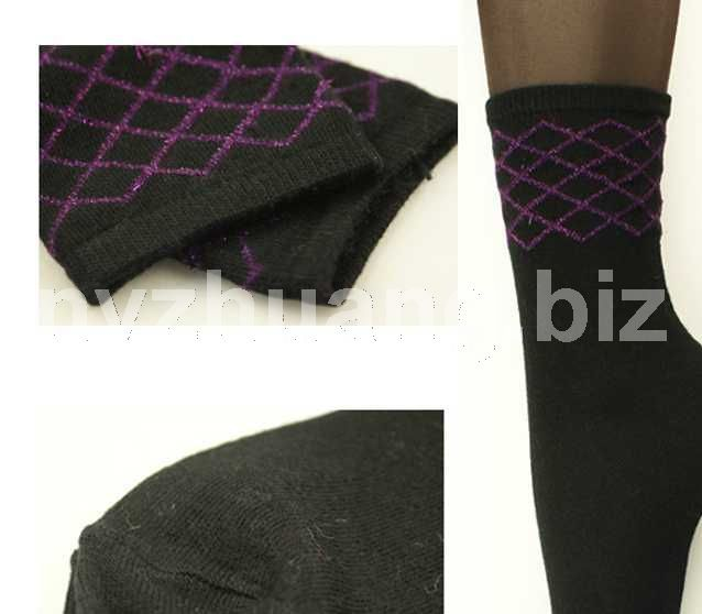 2011新品 全羊绒女袜 出口日本85%羊绒纱 无骨轻薄保暖
